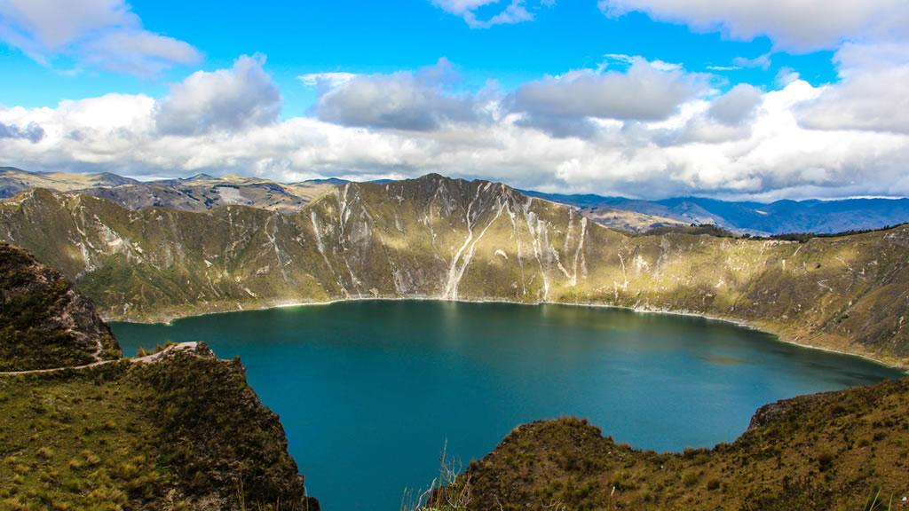 Озеро Килотоа в Эквадоре